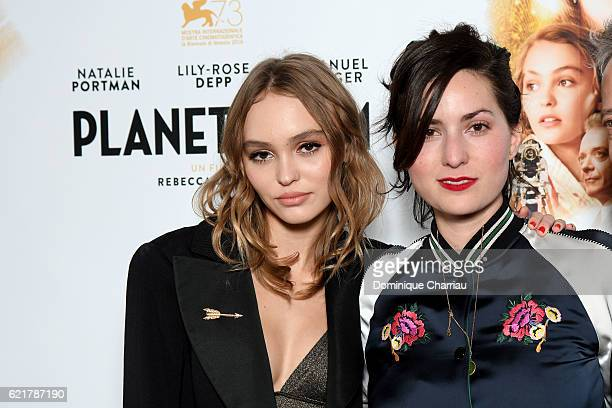 Lily RoseDepp and Rebecca Zlotowski attends the Planetarium Paris Premiere at Le Grand Rex on November 8 2016 in Paris France