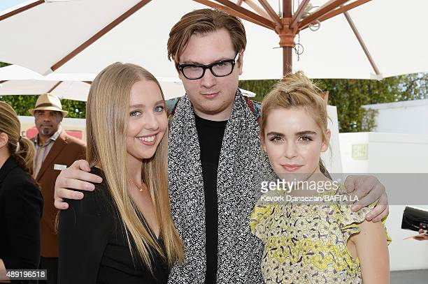 Lily Rosenthal Justin Campbell and actress Kiernan Shipka attend the 2015 BAFTA Los Angeles TV Tea at SLS Hotel on September 19 2015 in Beverly Hills...