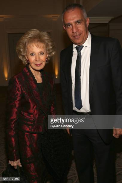 Lily Safra and Ami Moyal attend Mrs Lily Safra Honored at ISEF Foundation's 40th Anniversary at Intercontinental New York Barclay on May 11 2017 in...
