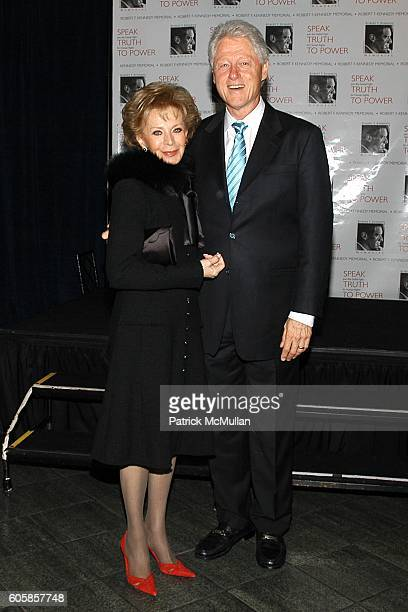 Lily Safra and Bill Clinton attend Special Premiere of SPEAK TRUTH TO POWER to Benefit the Kennedy Center with Former President Bill Clinton as Guest...