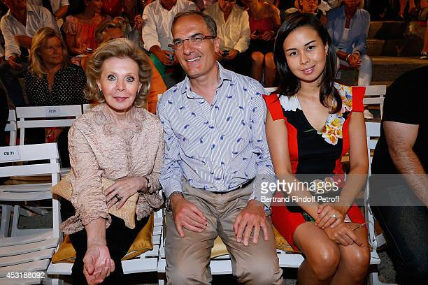 Lily Safra and friends attend the 30th Ramatuelle Festival Day 4 on August 4 2014 in Ramatuelle France
