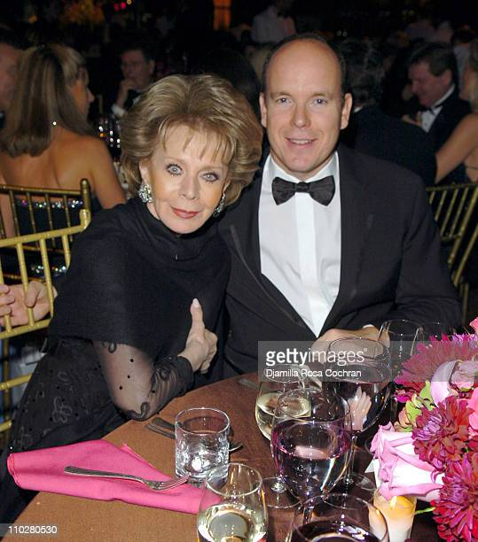 Lily Safra and HSH Prince Albert II of Monaco during 2005 Princess Grace Awards at Ciprianis at 42nd St in New York City New York United States