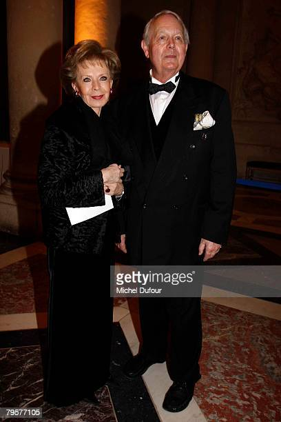 Lily Safra and Lord Michael Anders Cavendish attend a gala hosted by Professor David Khayat to raise money for cancer organisation AVEC Foundation on...