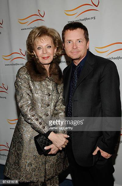 NEW YORK NOVEMBER 05 Lily Safra and Michael J Fox attend A Funny Thing Happened on the Way to Cure Parkinson's 2008 Benefit for The Michael J Fox...