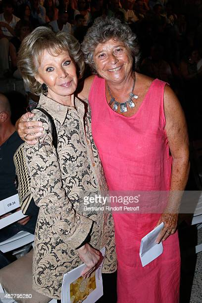Lily Safra and President of Ramatuelle Festival Jacqueline Franjou attend the 'Madame Foresti' show of Humorist Florence Foresti during the 31th...