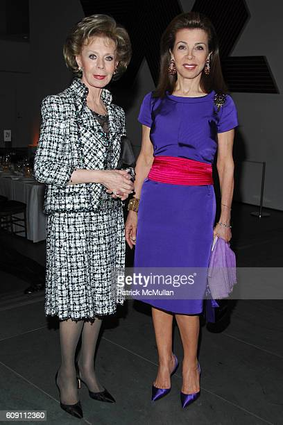 Lily Safra and Princess Firyal of Jordan attend Dinner for RICHARD SERRA SCULPTURE FORTY YEARS Hosted by MoMA and LVMH at The Museum of Modern Art on...