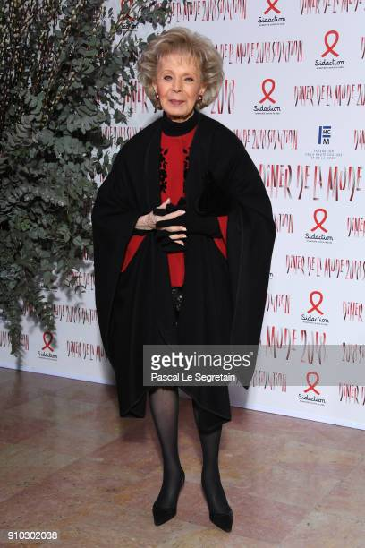 Lily Safra attends the 16th Sidaction as part of Paris Fashion Week on January 25 2018 in Paris France