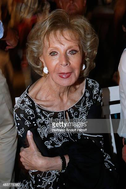 Lily Safra attends the Christophe Willem Show during the 31th Ramatuelle Festival Day 12 and last day on August 12 2015 in Ramatuelle France