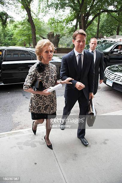 Lily Safra attends the funeral service for Marvin Hamlisch at Temple EmanuEl on August 14 2012 in New York City Hamlisch died in Los Angeles on...