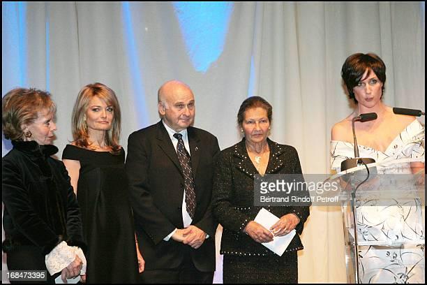 Lily Safra, Florence De Botton and Simone Veil with Menachem Magidor at The Gala Scopus Award 2007 Organised By L' Universite Hebraique De Jerusalem...