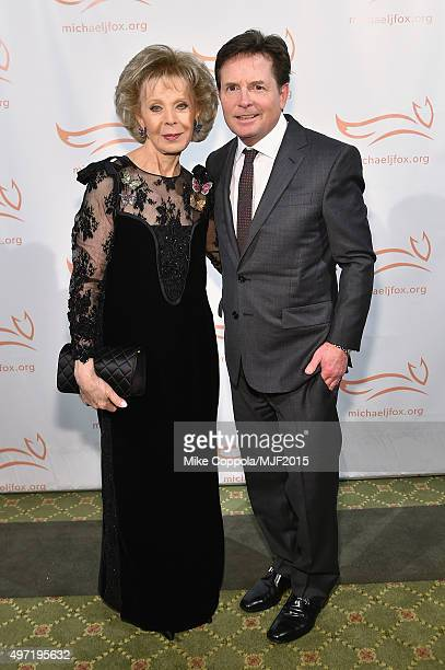 """Lily Safra Michael J Fox attend the Michael J Fox Foundation """"A Funny Thing Happened On The Way To Cure Parkinson's"""" Gala at The Waldorf=Astoria on..."""