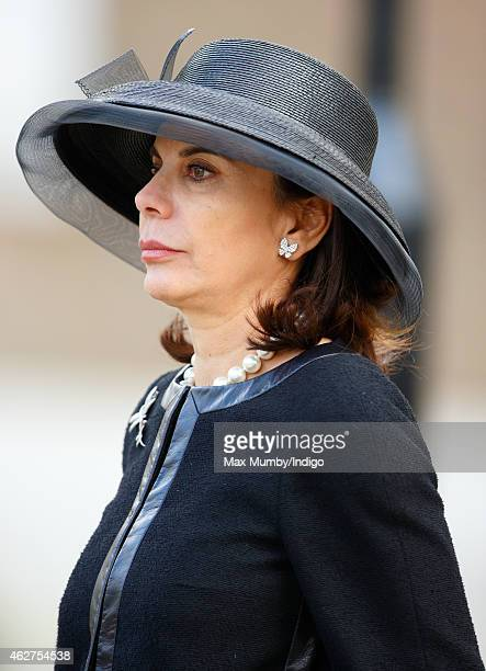 Lily SpencerChurchill Dowager Duchess of Marlborough attends a service of thanksgiving for the life of her husband John SpencerChurchill 11th Duke of...