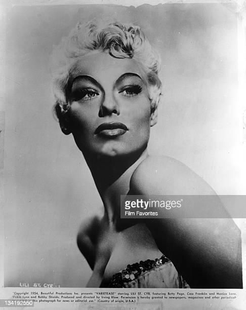 Lily St Cyr publicity portrait from the film 'Varietease' 1954