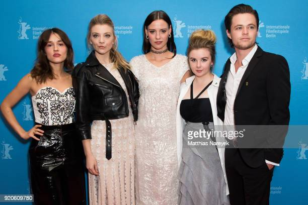 Lily Sullivan Natalie Dormer Lola Bessis Emily Gruhl and Harrison Gilbertson attend the 'Picnic at Hanging Rock' premiere during the 68th Berlinale...