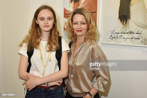 Lily Taieb and Laure Marsac attend '55 Politiques' Exhibition Preview at Galerie Dupin on June 9 2016 in Paris France