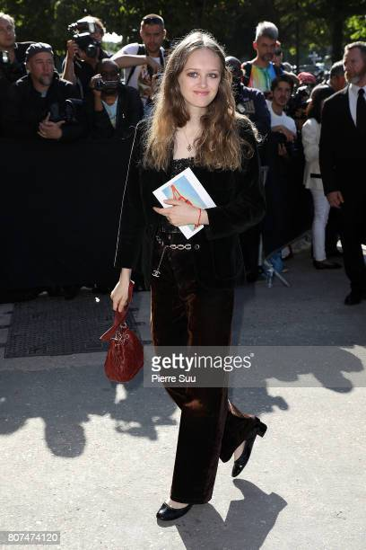 Lily Taieb arrives at the Chanel Haute Couture Fall/Winter 20172018 show as part of Haute Couture Paris Fashion Week on July 4 2017 in Paris France