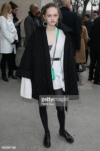 Lily Taieb arrives at the Chanel Haute Couture Spring Summer 2017 show as part of Paris Fashion Week on January 24 2017 in Paris France
