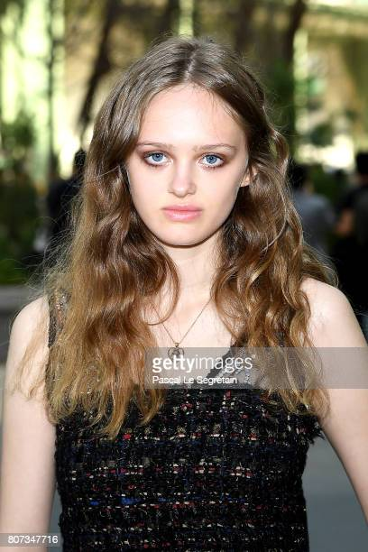 Lily Taieb attends the Chanel Haute Couture Fall/Winter 20172018 show as part of Haute Couture Paris Fashion Week on July 4 2017 in Paris France