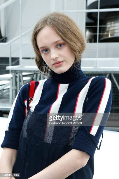 Lily Taieb attends the Chanel show as part of the Paris Fashion Week Womenswear Fall/Winter 2017/2018 on March 7 2017 in Paris France