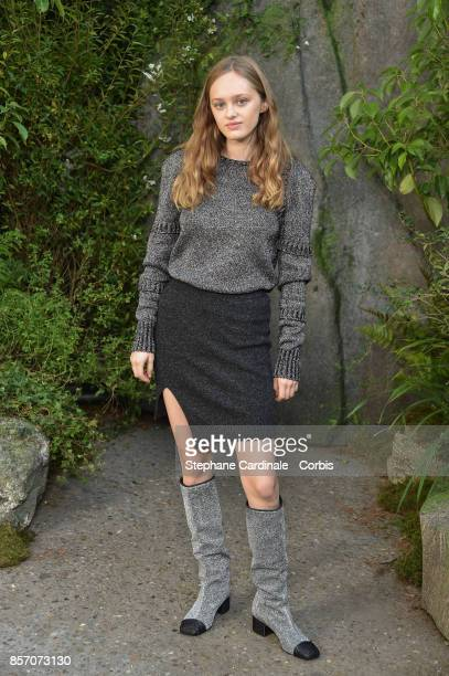 Lily Taieb attends the Chanel show as part of the Paris Fashion Week Womenswear Spring/Summer 2018 at on October 3 2017 in Paris France
