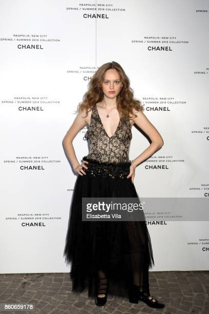 Lily Taieb attends the launch of Lucia Pica's Chanel SpringSummer 2018 Make up Collection on October 12 2017 in Naples Italy