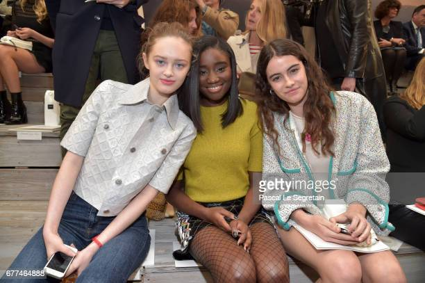 Lily Taieb Karidja Toure and Luz Sanchez attend the 'Chanel Cruise 2017/2018 Collection' at Grand Palais on May 3 2017 in Paris France