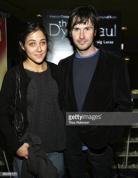 Lily Thorne and actor Josh Hamilton attend the Premiere of Holedigger Studios' The Dying Gaul at Clearview Chelsea West Cinema on November 1 2005 in...