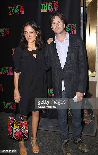 Lily Thorne and Josh Hamilton attend the Broadway Opening Night Performance of 'This Is Our Youth' at the Cort Theatre on September 11 2014 in New...
