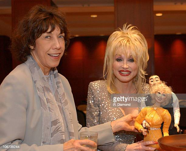 """Lily Tomlin and Dolly Parton during G-CAPP'S """"The Retro Premier"""" of 9 to 5- Live Auction at Woodruff Arts Center in Atlanta, Georgia, United States."""