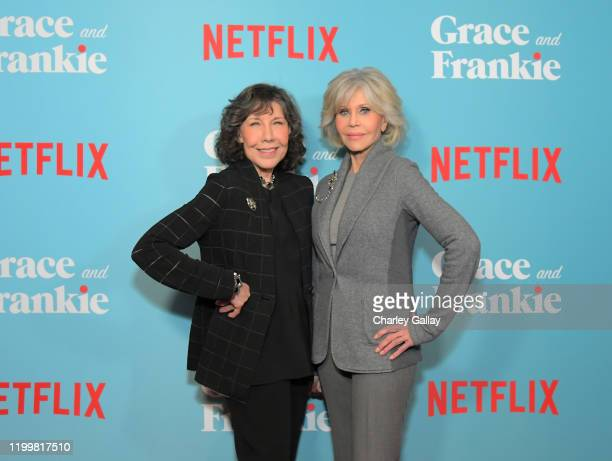 "Lily Tomlin and Jane Fonda attend a special screening of ""Grace and Frankie Season 6"", presented by Netflix, on January 15, 2020 in Los Angeles,..."