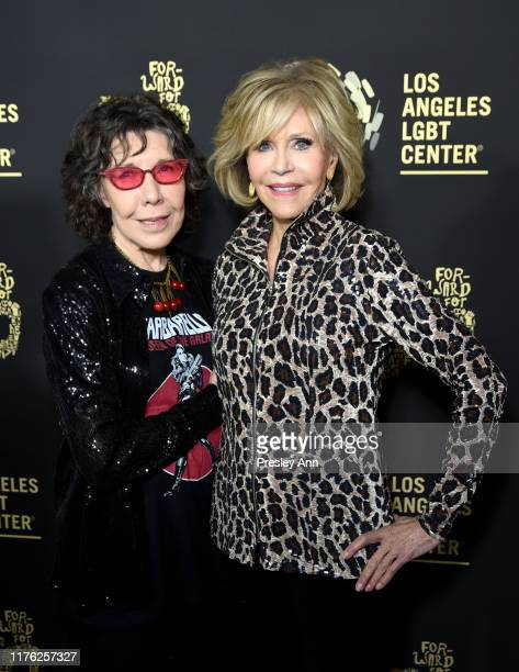 "Lily Tomlin and Jane Fonda attend Los Angeles LGBT Center Celebrates 50th Anniversary With ""Hearts Of Gold"" Concert & Multimedia Extravaganza at The..."