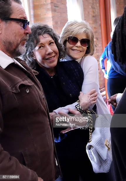 Lily Tomlin and Jane Fonda attend the Juror Welcome Lunch 2016 Tribeca Film Festival on April 14 2016 in New York City