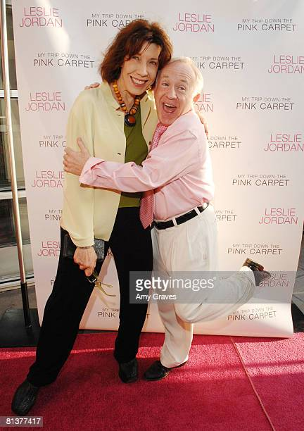 Lily Tomlin and Lelie Jordan attend the Leslie Jordan Book Party on June 2 2008 at Here Lounge in West Hollywood California