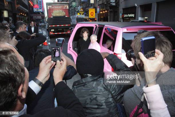Lily Tomlin and Leslie Jordan attend Arrivals for MY TRIP DOWN THE PINK CARPET at The Midtown Theater on April 19 2010 in New York City