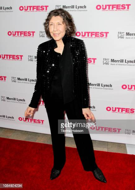 Lily Tomlin attends the 13th annual Outfest Legacy Awards at Vibiana on October 28 2018 in Los Angeles California