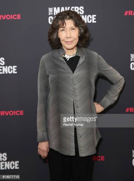 Lily Tomlin attends The 2018 MAKERS Conference at NeueHouse Hollywood on February 6 2018 in Los Angeles California