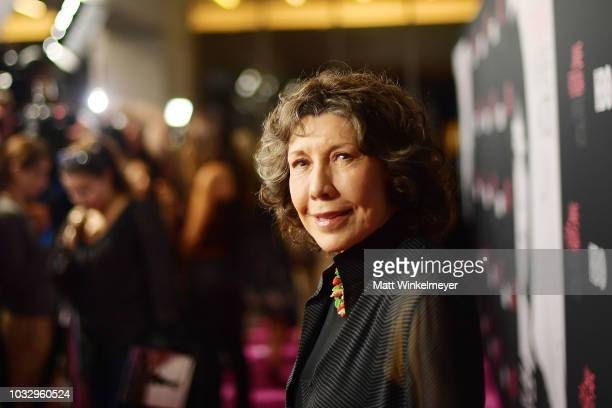 Lily Tomlin attends the premiere of HBO's Jane Fonda In Five Acts at Hammer Museum on September 13 2018 in Los Angeles California