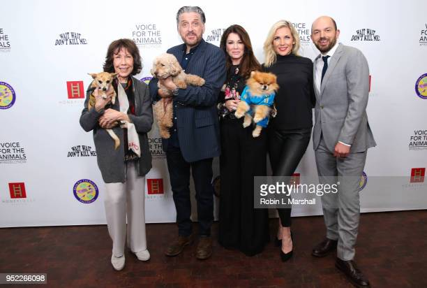 Lily Tomlin Craig Ferguson Lisa Vanderpump June Diane Raphael and Paul Scheer attend Wait Wait Don't Kill Me2 at The Broad Stage on April 27 2018 in...