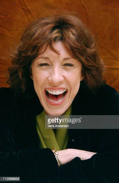 "Lily Tomlin during ""I Heart Huckabees"" Press Conference with Dustin Hoffman and Lily Tomlin at Four Seasons Hotel in Beverly Hills, California,..."