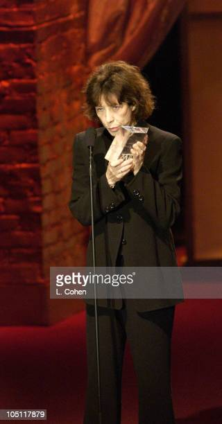 Lily Tomlin Honored with the Lucy Award during 2003 Women In Film Crystal + Lucy Awards - Show at Century Plaza Hotel in Los Angeles, California,...