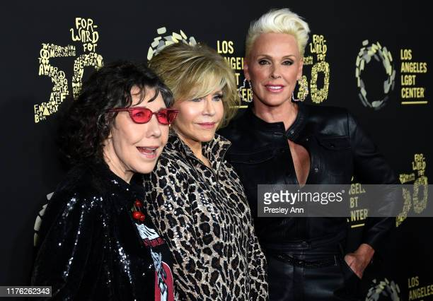 """Lily Tomlin, Jane Fonda and Brigitte Nielsen attend Los Angeles LGBT Center Celebrates 50th Anniversary With """"Hearts Of Gold"""" Concert & Multimedia..."""