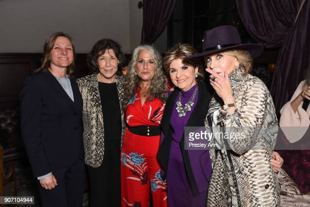 Lily Tomlin Marta Kauffman Gloria Allred and Jane Fonda attend Premiere Of Netflix's 'Grace And Frankie' Season 4 After Party at ArcLight Cinemas on...