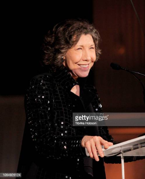 Lily Tomlin speaks onstage at the 13th Annual Outfest Legacy Awards Vibiana on October 28 2018 in Los Angeles California