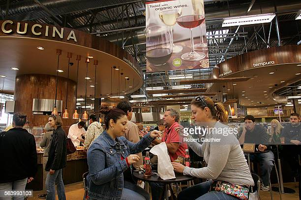 Lily Torres left of North Hollywood and Gennifer Rosenthal of Studio City stop to eat at the Whole Foods store in Pasadena Wednesday November 7 2007