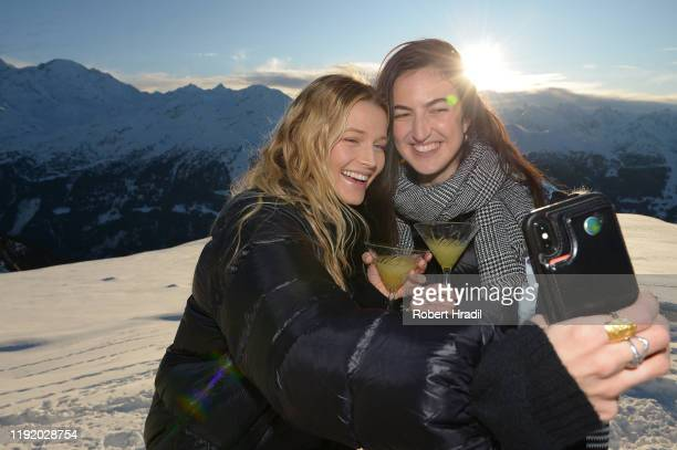 Lily Travers and Alexandra Reynolds attend Casamigos in the Snow on December 04 2019 in Verbier Switzerland