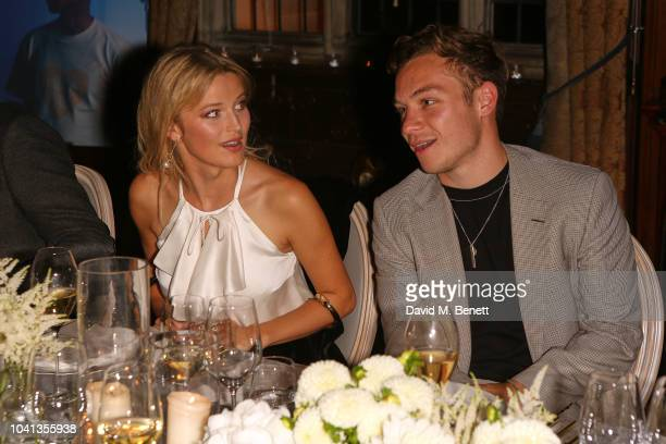 Lily Travers and Finn Cole attend a intimate dinner cohosted by LOUIS XIII Vanity Fair celebrating the brand's '100 Years' campaign on September 26...
