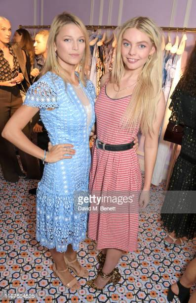 Lily Travers and Nell Hudson attend the Temperley London SS20 presentation during London Fashion Week September 2019 on September 13 2019 in London...