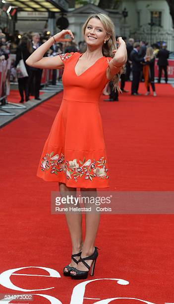 Lily Travers arrives for European Premiere of Me Before You at The Curzon Mayfair on May 25 2016 in London England