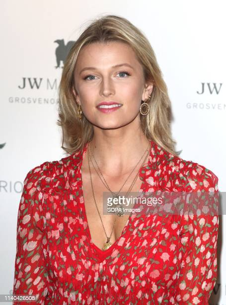 Lily Travers at the JW Marriott Grosvenor House 90th anniversary party at the JW Marriott Grosvenor House Park Lane