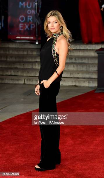 Lily Travers attending the world premiere of Murder On The Orient Express at the Royal Albert Hall London